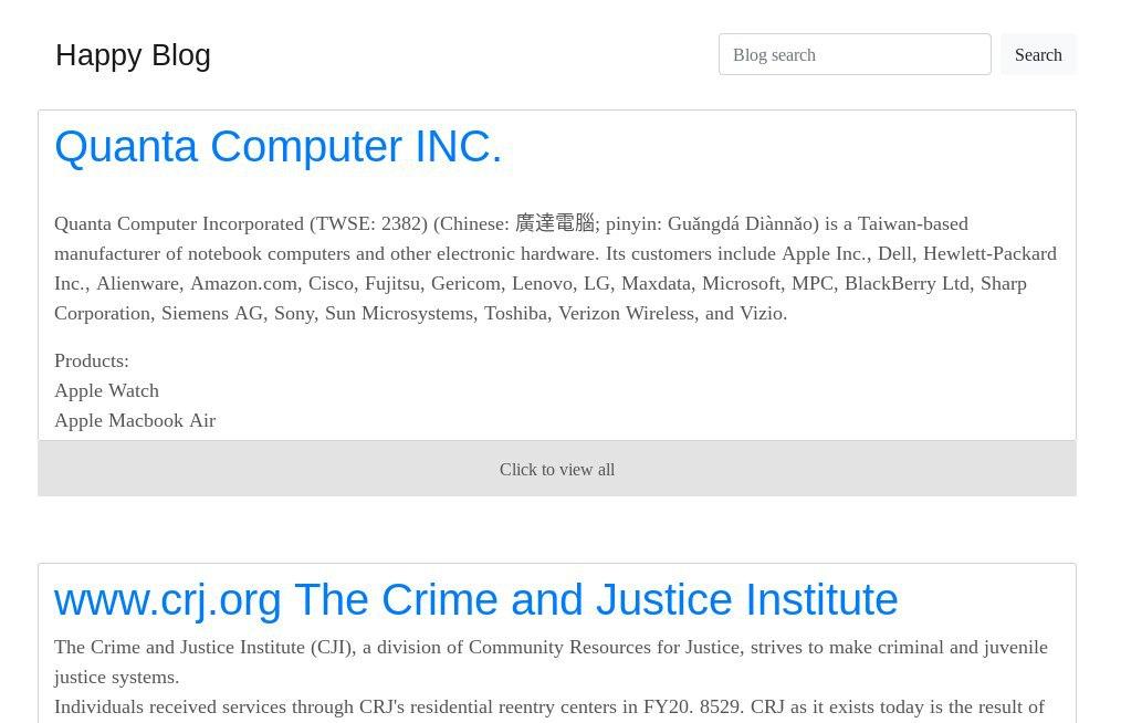 被害を受けた企業から盗んだデータを含むREvilのブログ記事
