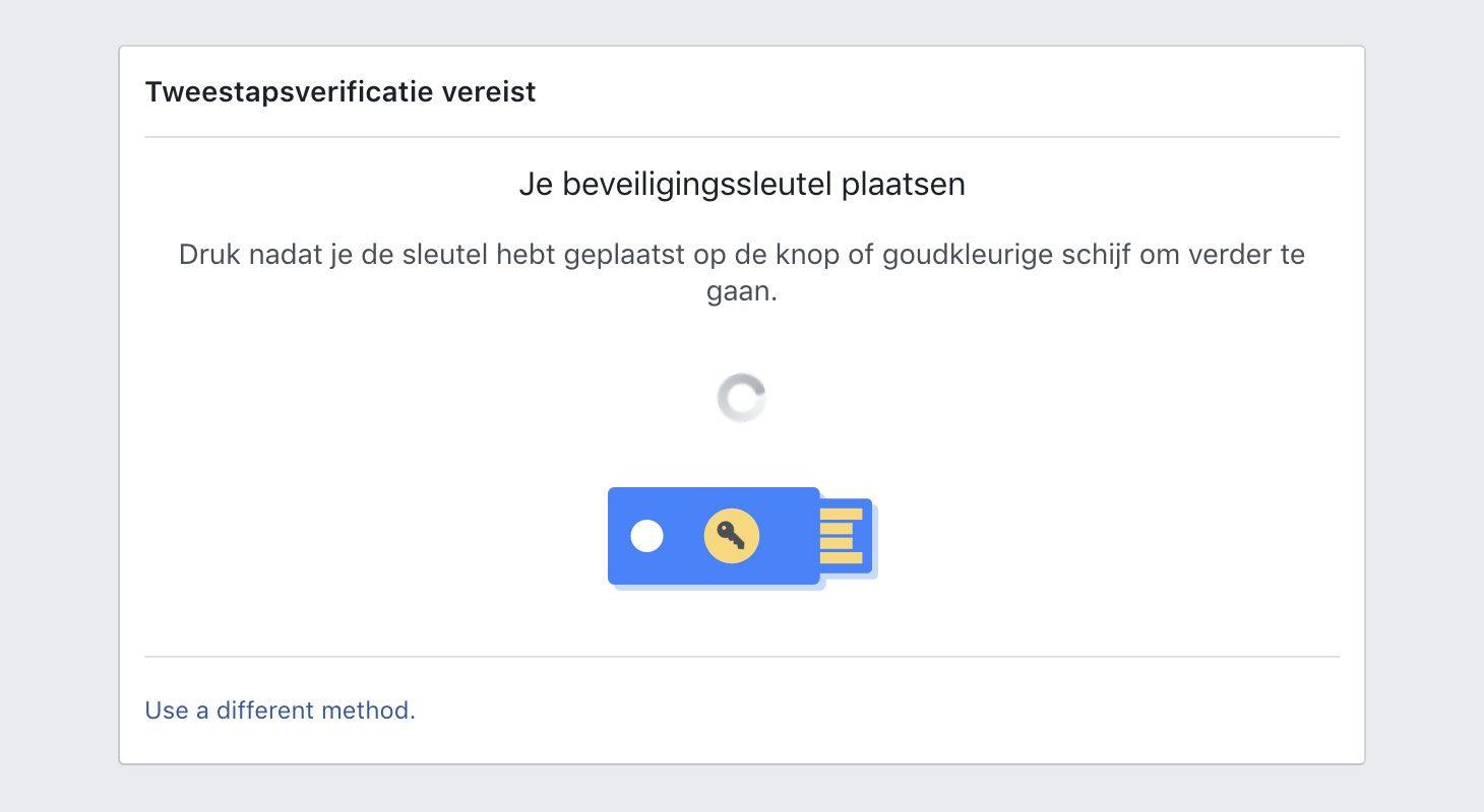 Hoe te authenticeren in Facebook met YubiKey