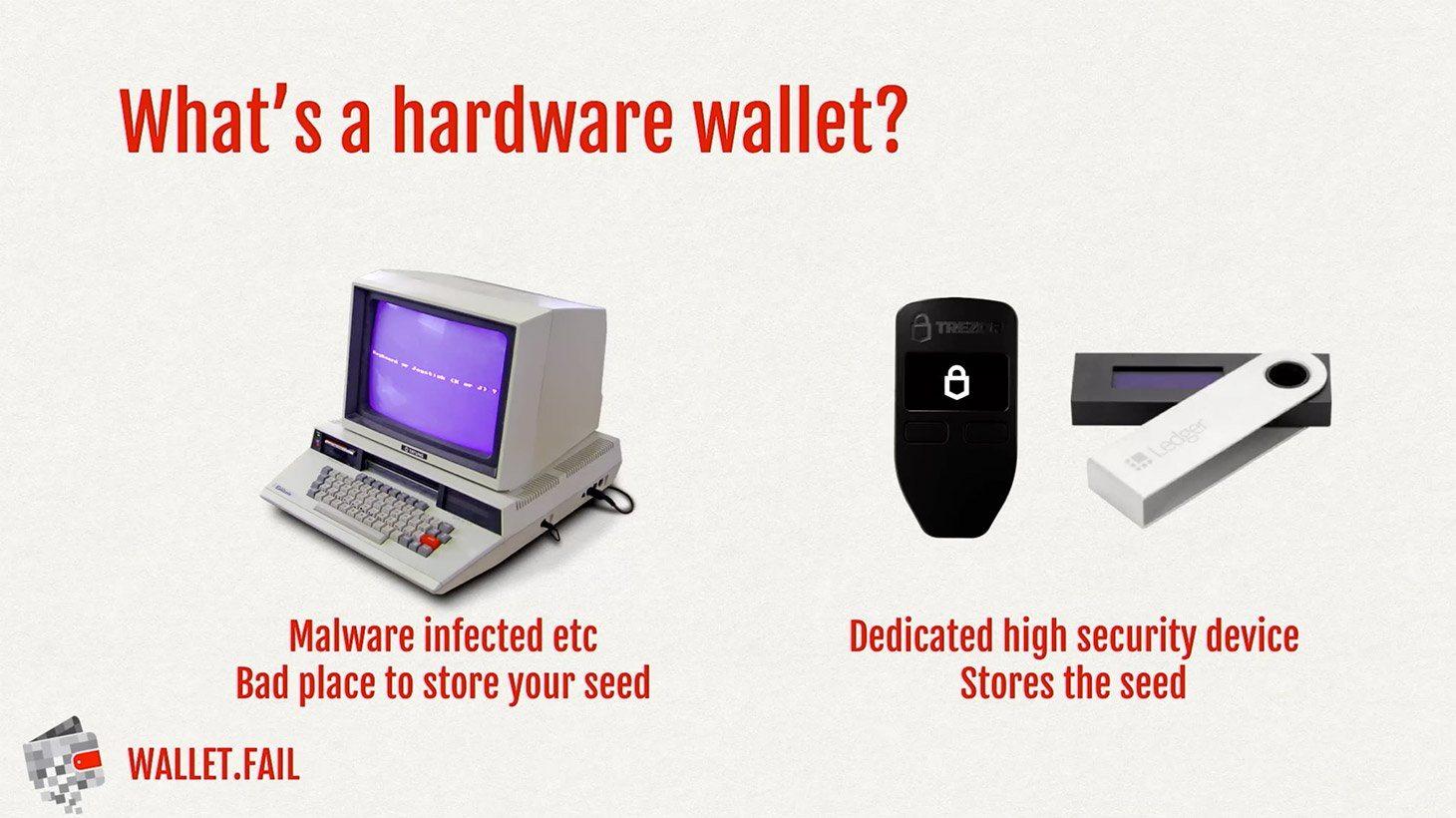 Waarom zou iemand een hardware cryptovaluta wallet willen?