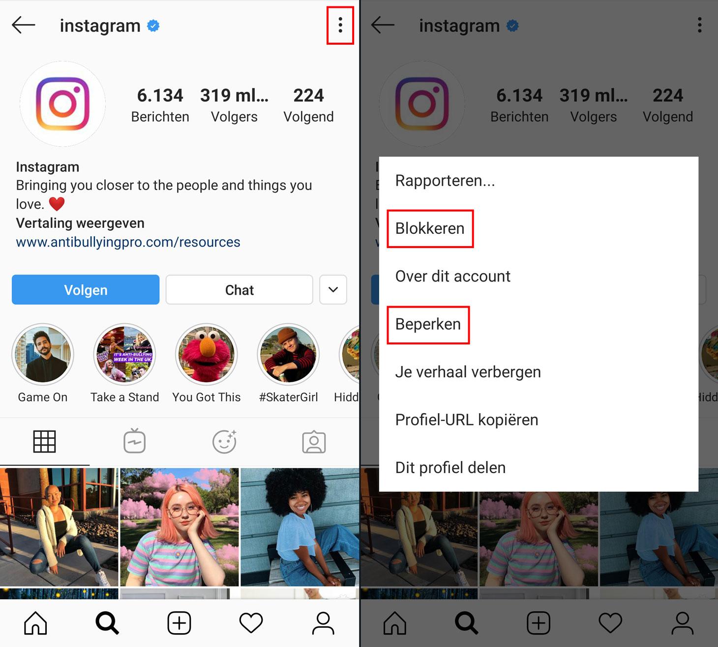 Hoe blokkeert of beperkt u toegang tot uw Instagram-account